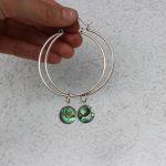 Ayelen big Abalone shell hoops 1