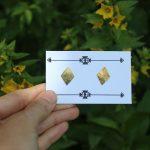 Mini golden Rhomb studs 1