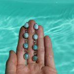 Waterfall Larimar earrings 2