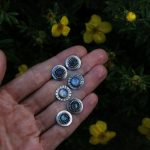 Moonstone Labradorite Rose Quartz studs