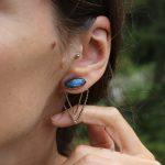 Siofra 2in1 earrings Moonstone Labradorite 1
